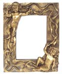 Frame with angels, gilded 1110-2Z 17,5x13,5cm
