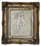Picture-relief Amor and Psyche, gilded marble 1153-2Z 35x40cm