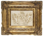 Picture-relief Amors, gilded marble 1205-2Z 35x25cm